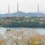 針尾送信所無線塔。佐世保市の針尾島にある廃墟塔は行く価値あり!