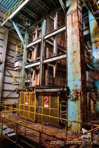 池島炭鉱のケージ(エレベーター)