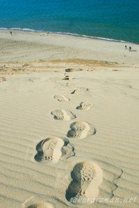 鳥取砂丘足跡