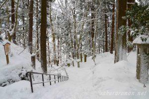 冬の山寺(立石寺)参道