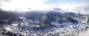 冬の山寺(立石寺)五大堂の眺望3