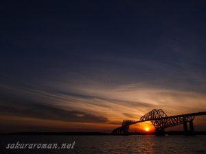 東京ゲートブリッジ(恐竜橋)夕陽3