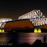 東京東航路を跨ぐ東京ゲートブリッジ(恐竜橋)は夕景・夜景が綺麗