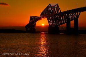 東京ゲートブリッジ(恐竜橋)夕陽