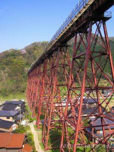 桜咲く春の余部鉄橋3