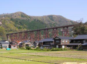 桜咲く春の余部鉄橋2