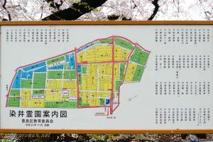 染井霊園案内図