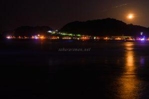 由比ヶ浜の青い海夜光虫7